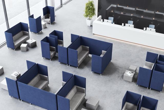 Bequeme Lounge-Arbeitplätze