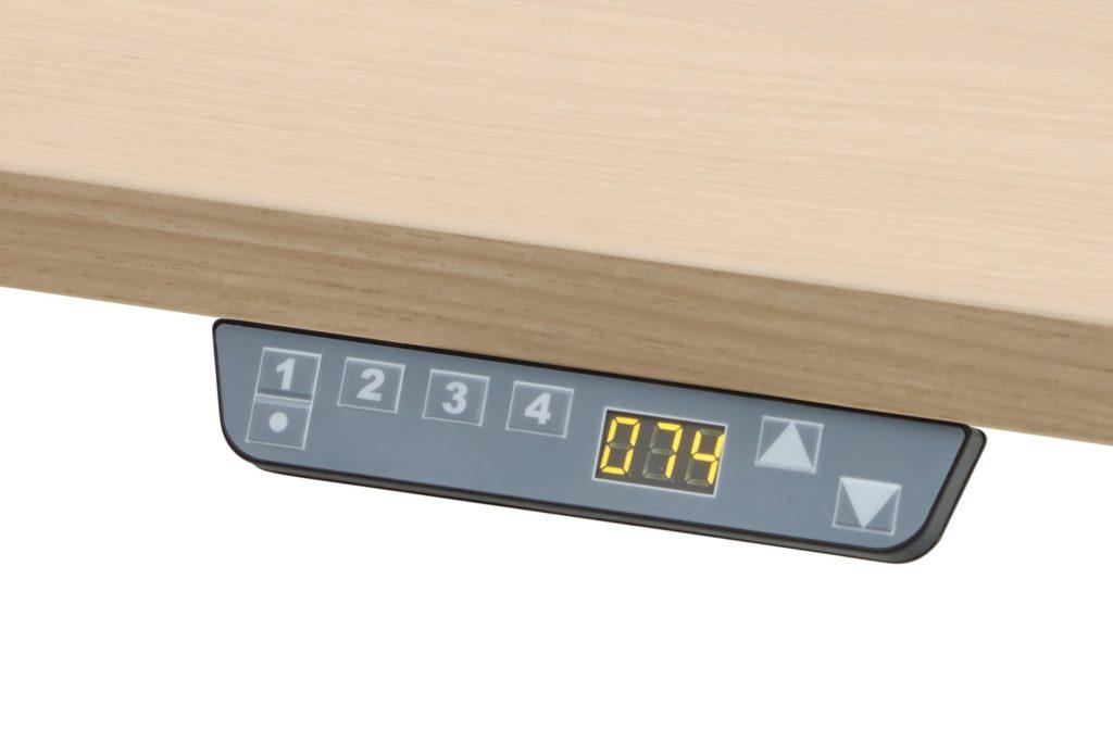 Schreibtisch Höhenverstellung per Knopfdruck