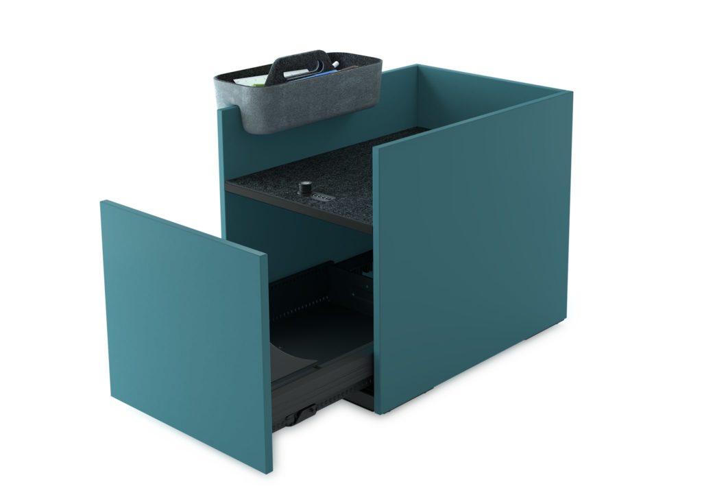 Praktischer Schreibtischcontainer